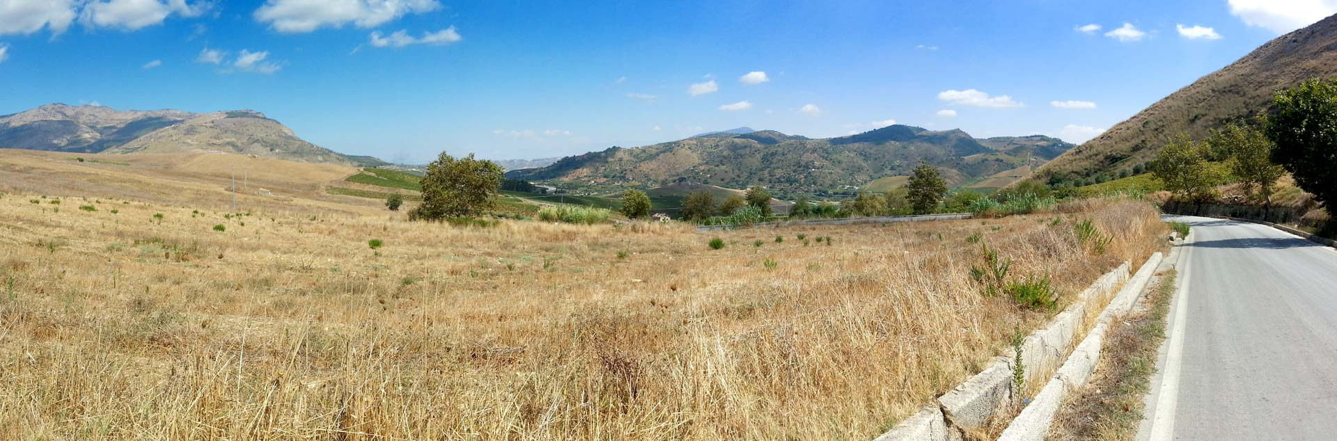 The area near Segesta in the province of Trapani (September 2014)