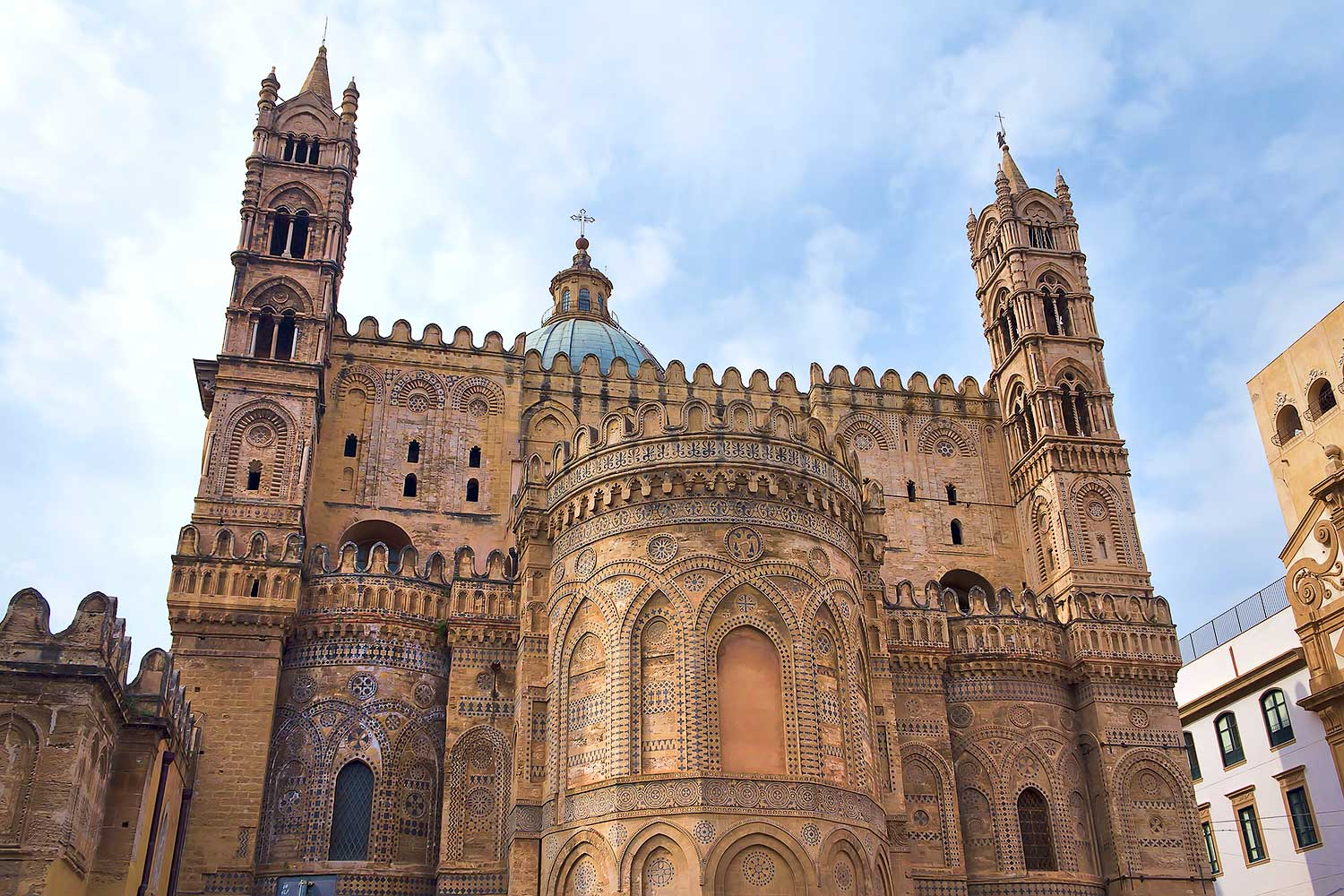 The beautifully preserved apse of the Cathedral of Palermo