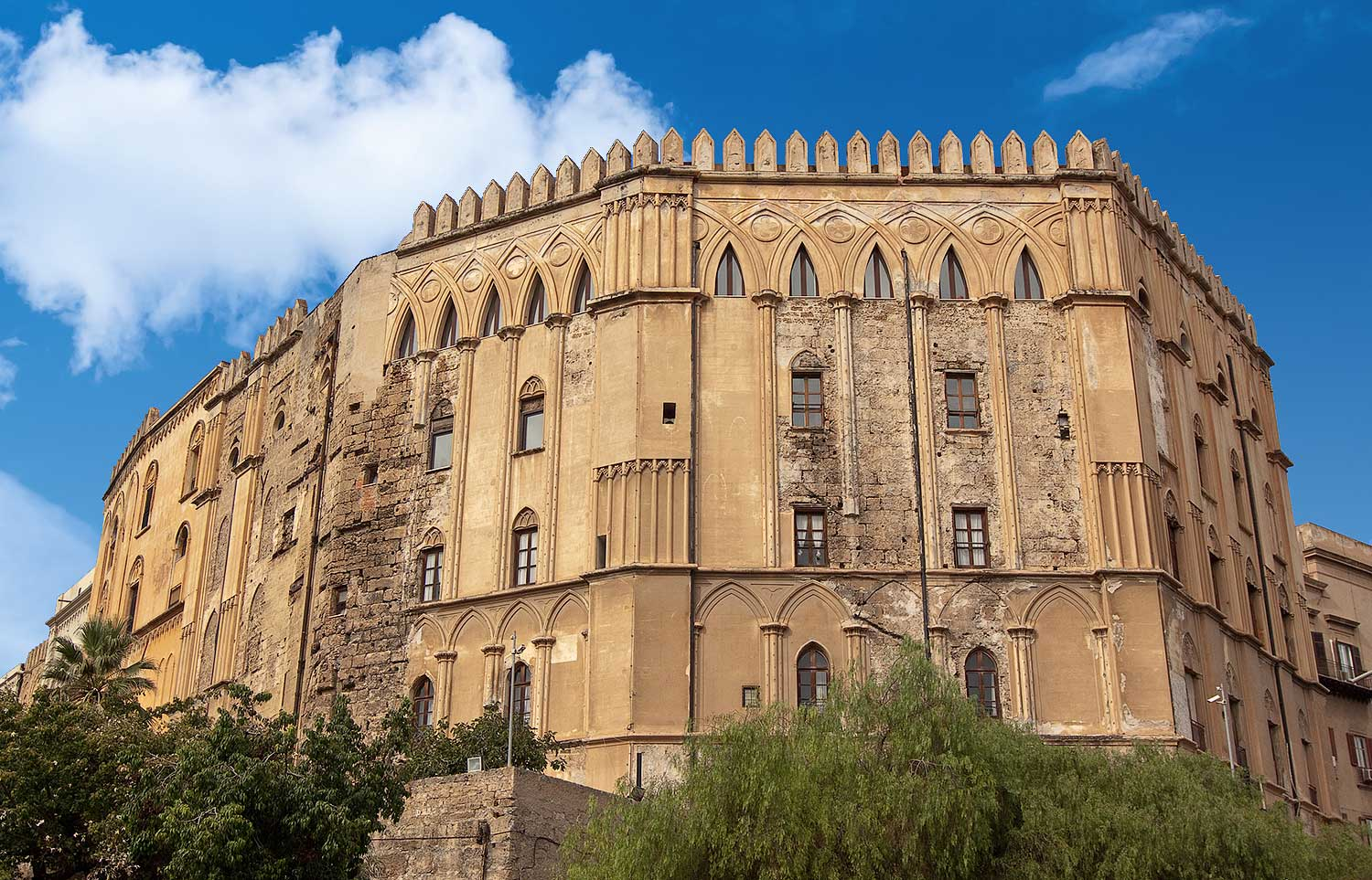 The Palazzo dei Normanni, also known as the Palazzo reale, in Palermo