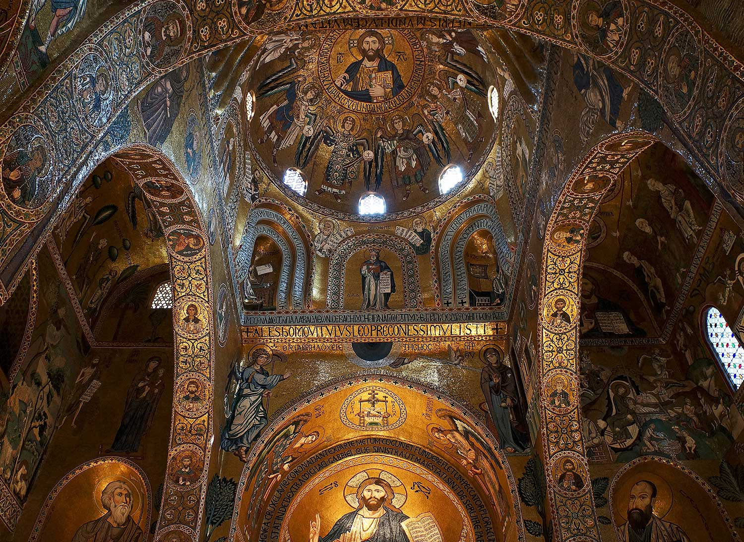 The Cappella Palatina in the Norman palace in Palermo