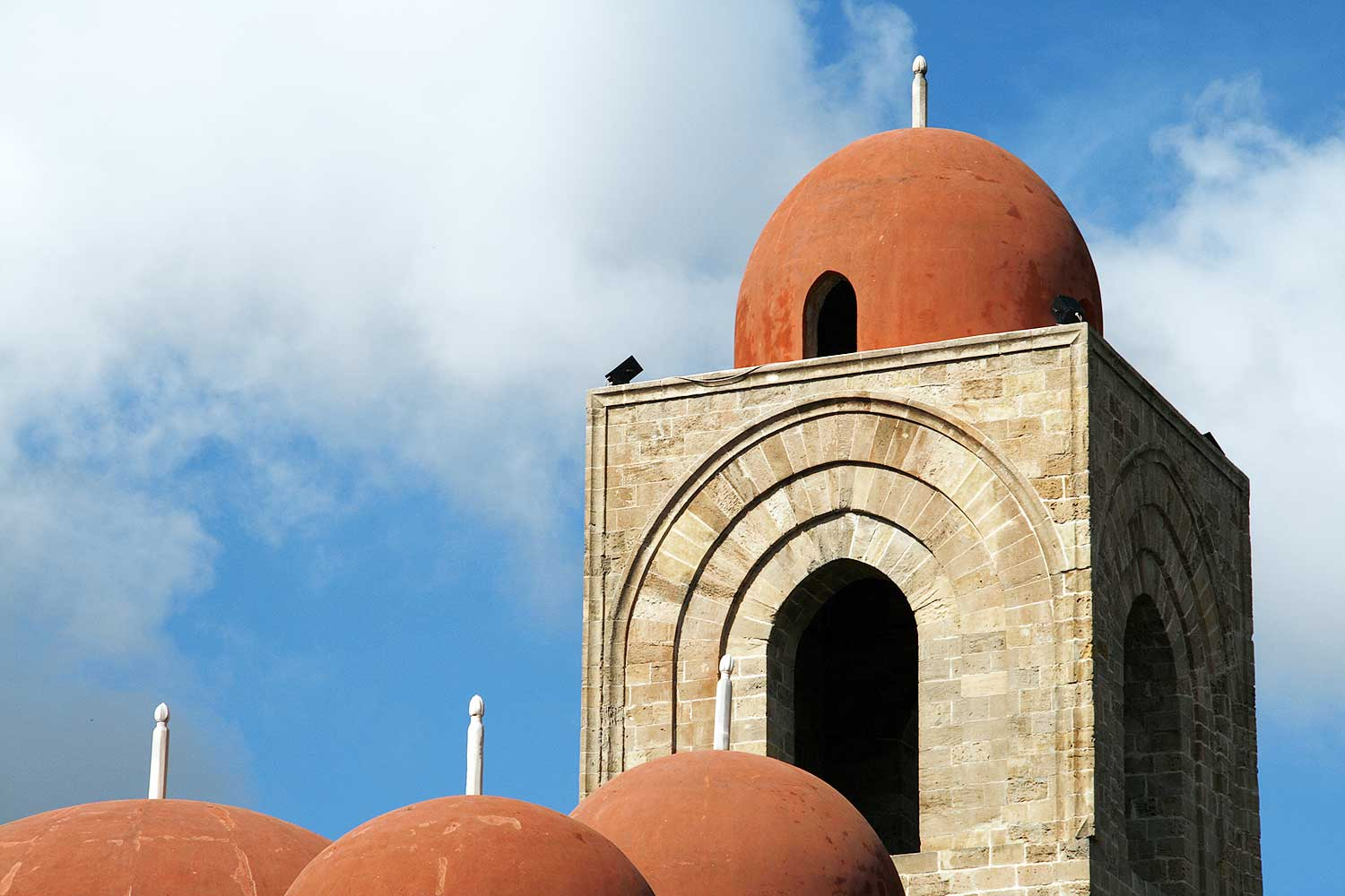 The red domes of the San Giovanni degli Eremiti church