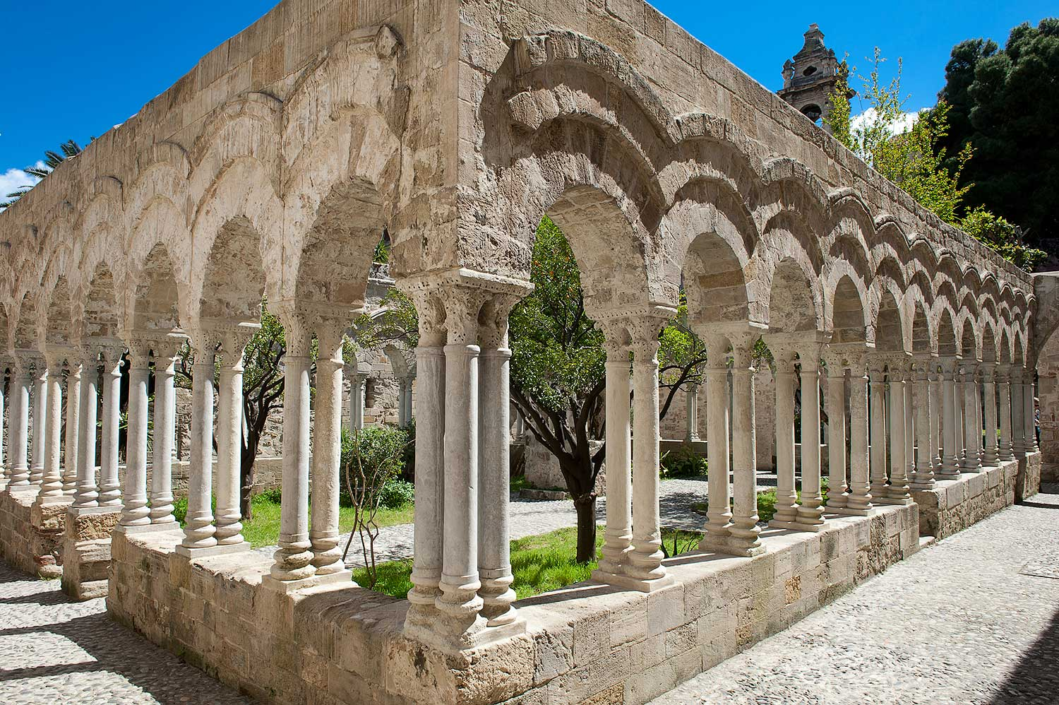 The cloister with double columns