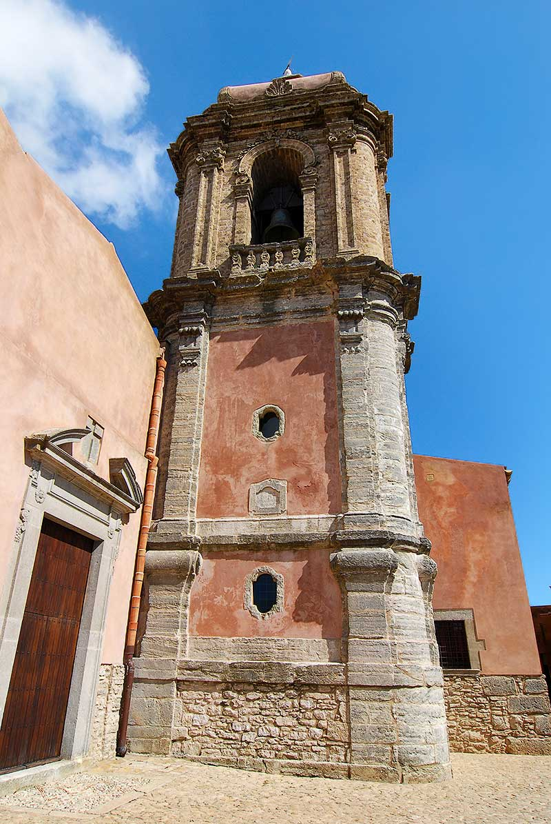 The bell tower of the San Giuliano church in Erice