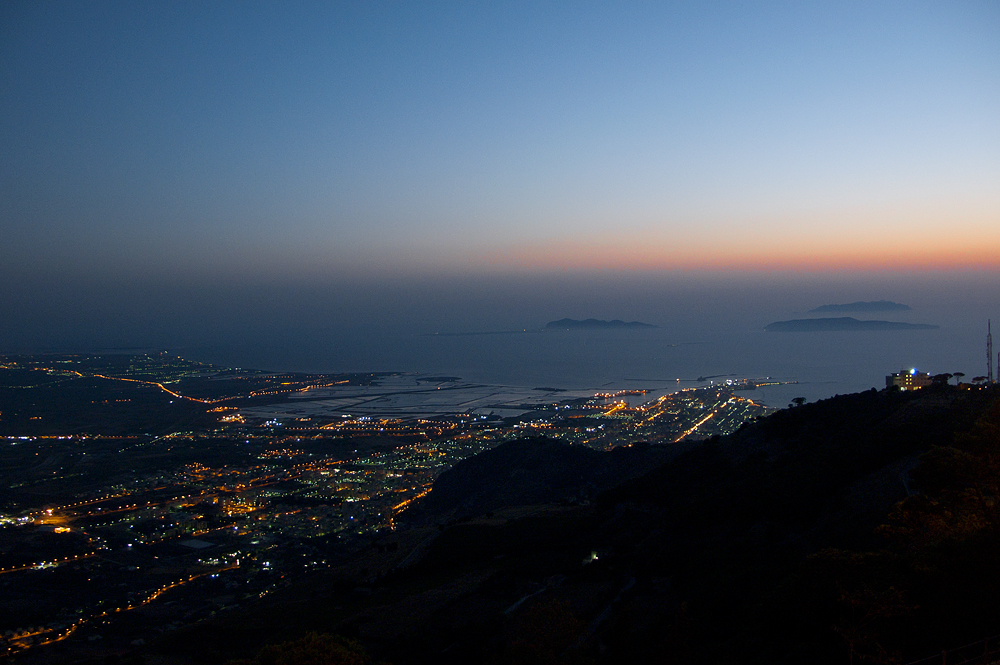 View of Trapani by night