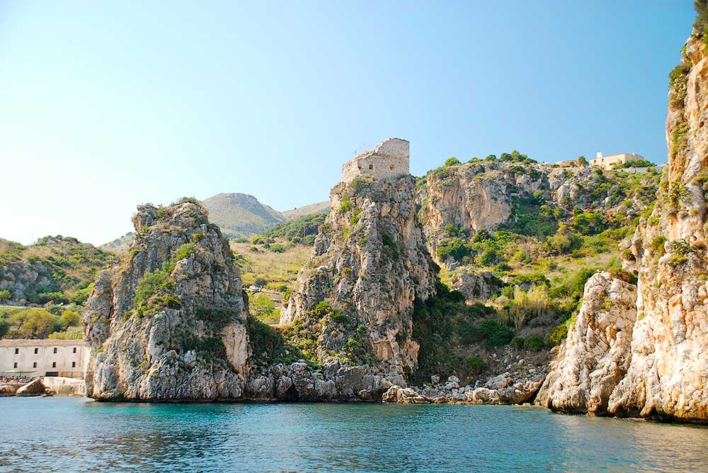 The coastline of Scopello near the tonnara
