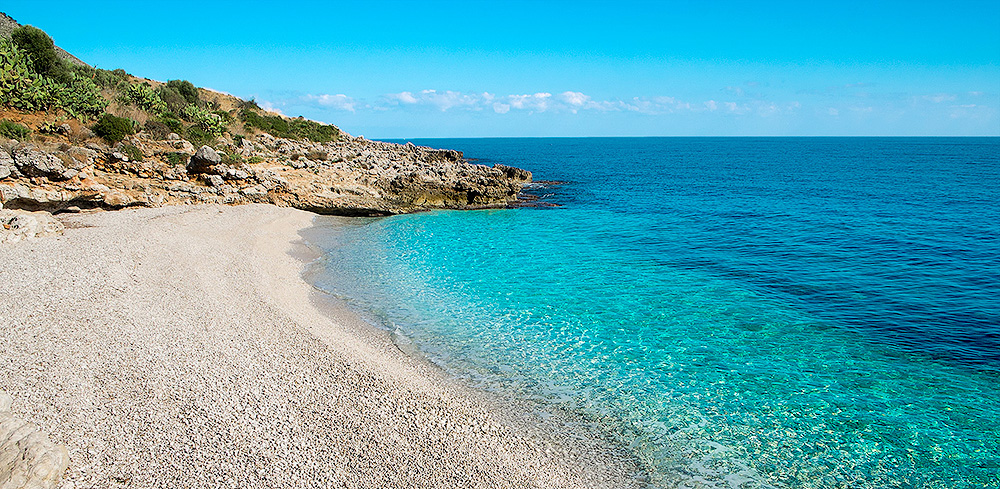 """One of the """"hidden"""" beaches in the Lo Zingaro nature reserve"""