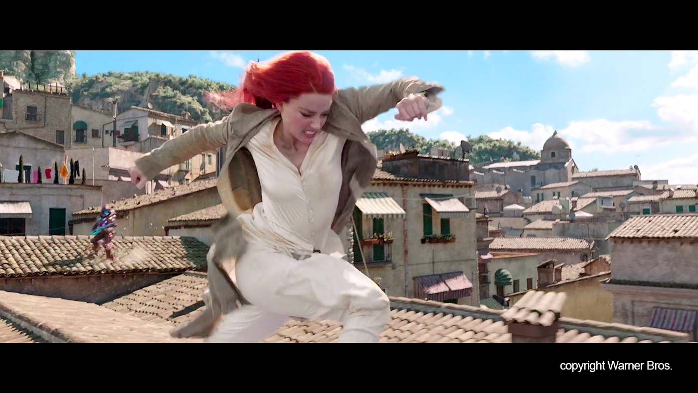 """Mera on the roofs in """"Erice"""""""