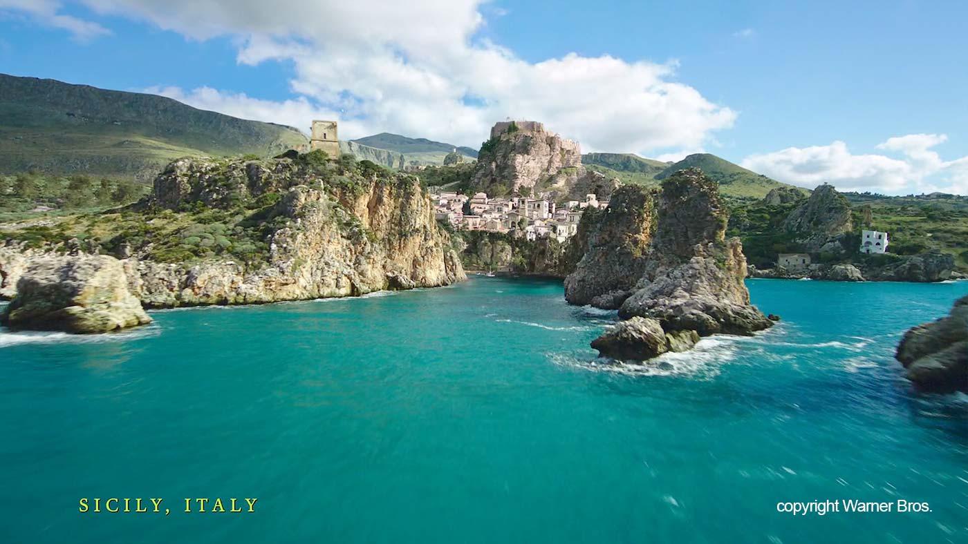The coast of Sicily in Aquaman
