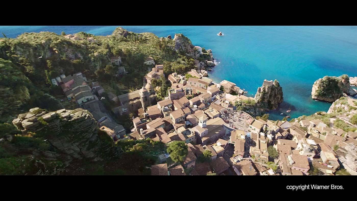 The Sicilian coastal town in Aquaman