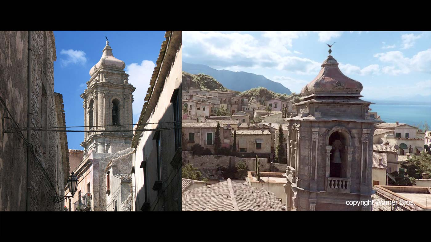 The San Giuliano church in Erice and the church in the movie