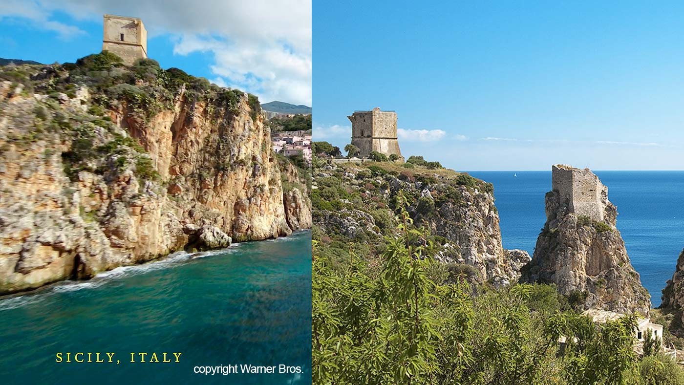 The scene from the Aquaman movie and one of the towers that can be found in our region