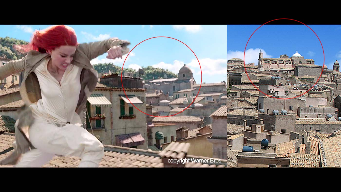 Another church in the movie is also based on one of the churches in Erice.