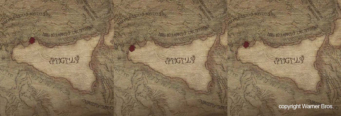 The correct locations of Erice and Scopello shown on the movie map