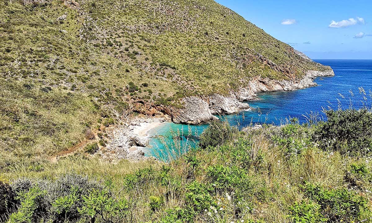 De Cala Capreria, de eerste baai in Lo Zingaro